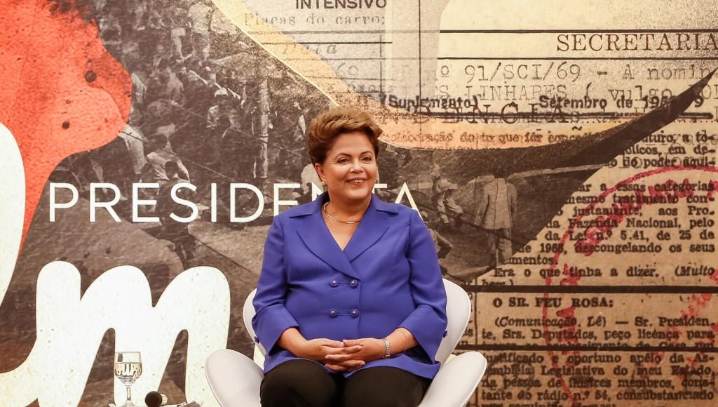 São Paulo - SP, 15/10/2014. Dilma Rousseff durante a Reunião com Sindicalistas. Foto: Ichiro Guerra