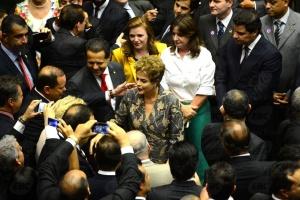 Brasília - A presidenta Dilma Rousseff participa no Congresso da cerimônia de abertura do Ano Legislativo (Fabio Rodrigues Pozzebom/Agência Brasil)