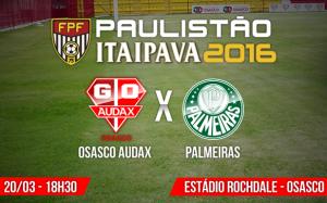 Audax e Palmeiras se enfrentam no domingo