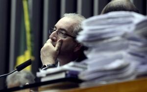 Brasília - O presidente da Câmara dos Deputados, Eduardo Cunha, durante sessão plenaria (Valter Campanato/Agência Brasil)