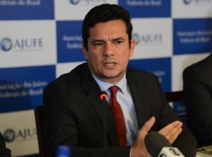 O juiz federal Sérgio Moro participa de apresentação de um conjunto de medidas contra a impunidade e pela efetividade da Justiça, na sede Associação dos Juízes Federais do Brasil (Fabio Rodrigues Pozzebom/Agência Brasil)