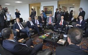 Brasília - O Presidente da OAB Nacional, Claudio Lamachia se reúne com advogados dos envolvidos na Operação Lava Jato (Antonio Cruz/Agência Brasil)