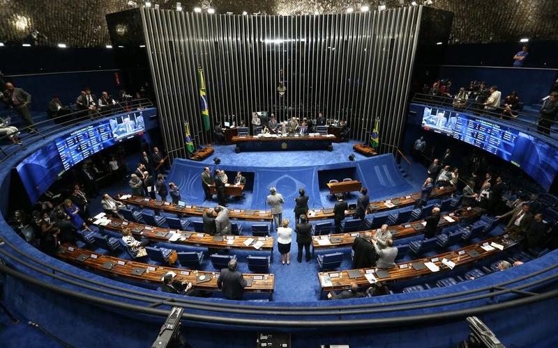 Brasília - O presidente do Senado, Renan Calheiros, marcou para segunda-feira (25) a sessão de eleição da comissão especial que vai analisar o processo de impeachment  (Fabio Rodrigues Pozzebom/Agência Brasil)