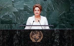 Nova Iorque - EUA, 22/04/2016. Presidente Dilma Rousseff durante sessão de abertura da cerimônia de assinatura do acordo de Paris. Foto: Roberto Stuckert Filho/PR
