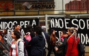 São Paulo - Estudantes de escolas da rede estadual de ensino de São Paulo e de Etecs (Escolas Técnicas) passaram a madrugada desta sexta-feira (29) dentro da sede do Centro Paula Souza, na região Central de São Paulo (Rovena Rosa/Agência Brasil)