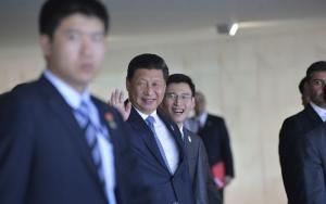 O Presidente da China, Xi Jinping após a segunda sessão de trabalho da reunião do BRICS (José Cruz/Agência Brasil)
