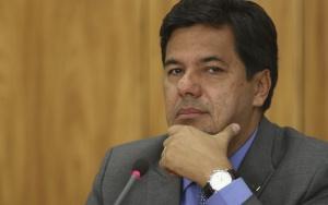 Brasília - O ministro da Educação, Mendonça Filho, e o secretário Nacional de Cultura, Marcelo Calero, durante coletiva. (Fabio Rodrigues Pozzebom/Agência Brasil)