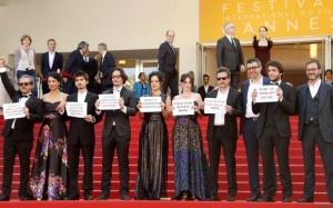 Protesto em Cannes