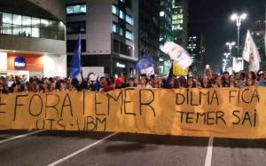 Protesto na Avenida Paulista