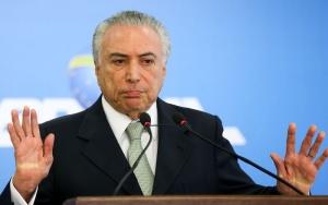 Brasília - O Presidente interino Michel Temer faz pronunciamento no Palácio do Planalto ( Marcelo Camargo/Agência Brasil)