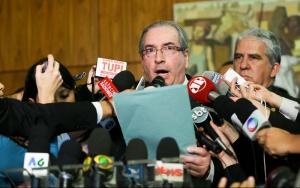 Brasília - O presidente afastado da Câmara, Eduardo Cunha (PMDB-RJ), renunciou há pouco à presidência da Casa (Marcelo Camargo/Agência Brasil)