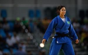 Rio de Janeiro - Mariana Silva, do Brasil, vence Martyna Trajdos, da Alemanha, na categoria até 63kg do judô feminino na Arena Carioca dos Jogos Olímpicos Rio 2016. (Fernando Frazão/Agência Brasil)