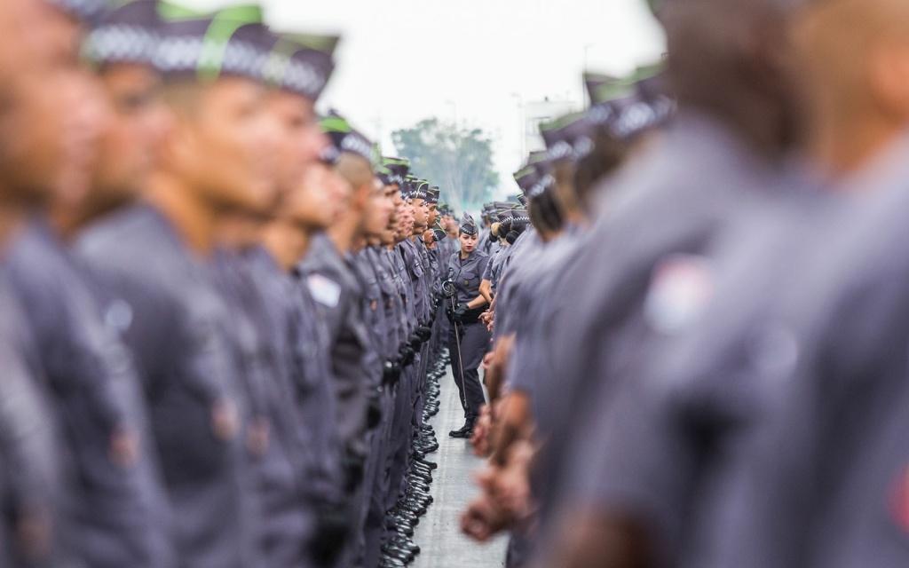 O Governador de São Paulo, participou da formatura de 2.811 novos policiais militares em formatura realizada no sambódromo do anhembi em São Paulo. 11/05/2016 -  São Paulo  -   Foto: Eduardo Saraiva/A2IMG