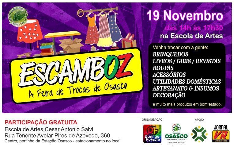 Cartaz da feira de trocas