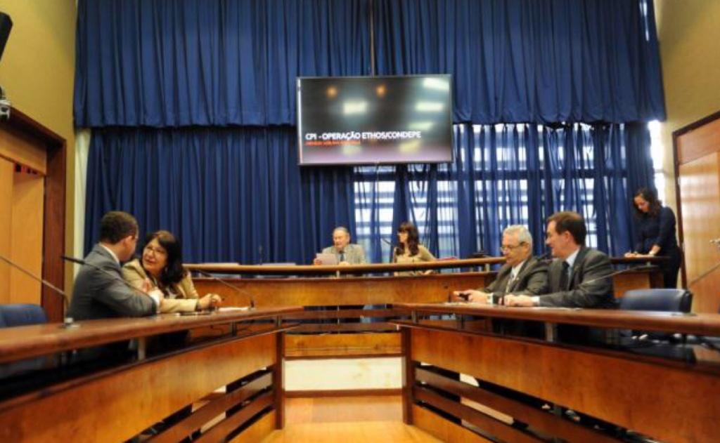 Deputados membros da CPI Operação Ethos/Condepe durante eleição da mesa