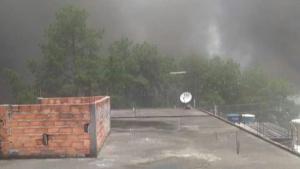 Foto enviada por morador da região do incêndio