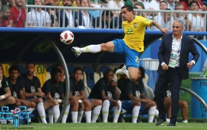 Samara Russia 02 06 2018 Brasil venceu o  México po 2 x 0 e segue para as quartas pelass de final da Copa do Mundo da Rússia 2018. Gabriel Jesus. Lucas Figueiredo/CBF