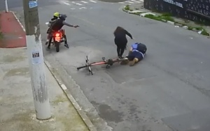 Foto reprodução de vídeo de uma câmera de segurança