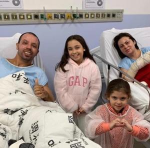 Pref Rogério Lins,esposa  e  filhos Fernanda e Bia.